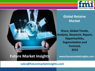 Recent industry trends in Betaine Market, 2015-2025 by Future Market Insights