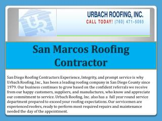 San Marcos Roofing Contractor