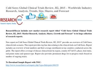 Cold Sores Global Clinical Trials Review, H2, 2015