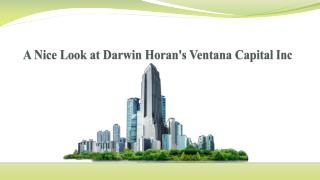 A Nice Look at Darwin Horan's Ventana Capital