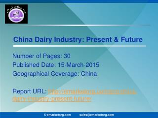 China Dairy Industry Growth Prospects 2015