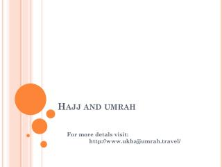 Packages of Umrah and Hajj