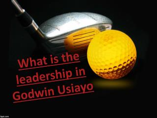 What is the leadership in Godwin Usiayo updates