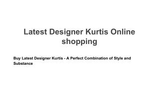 Latest Designer kurtis online shopping