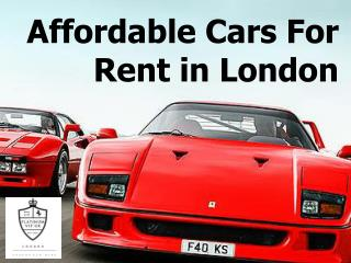 Affordable Cars For Rent in London