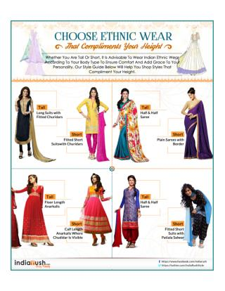 Indian Ethnic Wear - An Attire that Compliments your Height