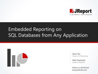 Embedded SQL Reporting on Databases from Any Application