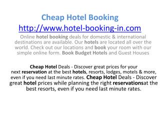 Get lowest rates for online hotel bookings