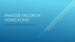 famous tailors in Hong Kong