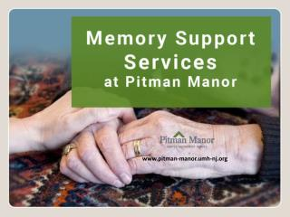 Assisted Living in Pitman – Memory Care Support