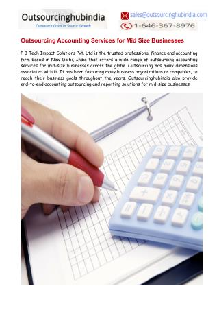 Outsourcing Accounting Services for Mid Size Businesses