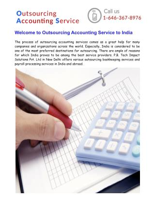 Welcome to Outsourcing Accounting Service to India