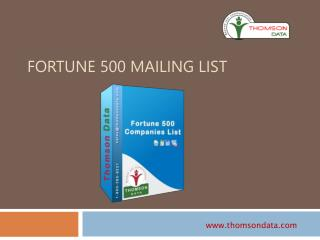 Fortune 500 Companies List - Fortune 500 Users List - Purchase Email Lists by Profession