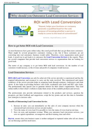 How to get better ROI with Lead Conversion