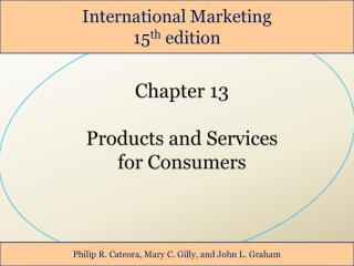 Chapter 13 Products and Services  for Consumers