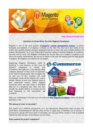 Magento - Ecommerce solution to power your business