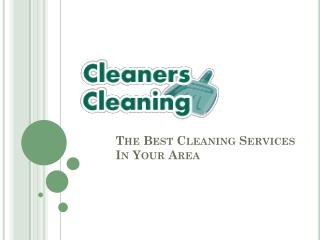 The Cleaning Help You Need