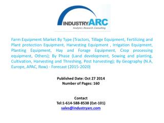 Farm Equipment Market Segmented By North America, Europe, Asia-Pacific and Rest of the World.