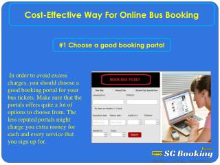 Cost-effective way for online bus booking