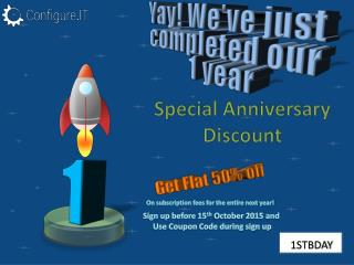 Configure.IT has Announced Flat 50% Discount on the Special Occasion of its First Birthday