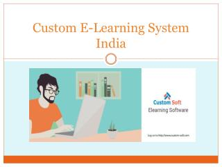 Custom E-Learning System India