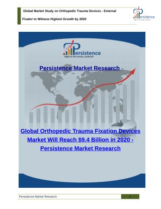 Global Market Study on Orthopedic Trauma Devices - Size, Share, Trend, Analysis (2020)