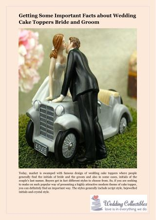 Getting Some Important Facts about Wedding Cake Toppers Bride and Groom