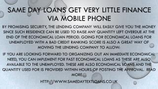 Same Day Loans Get Easy Loans with a Display