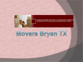 Movers Bryan TX