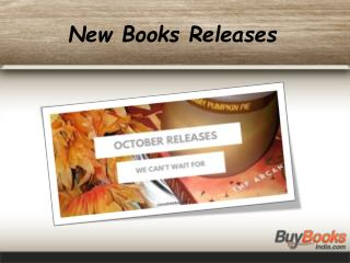 New Books Releases in October 2015