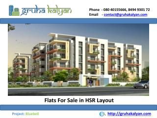 Flats For Sale in HSR Layout