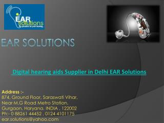 Digital hearing aids Supplier in Delhi  Call  EAR Solutions