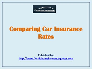 Car Insurance Rates-Comparing Car Insurance Rates