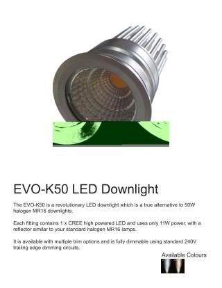 LED Downlights - EVO K50 LED Lighting Product
