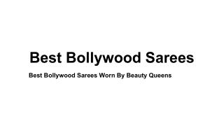 Best Bollywood Sarees