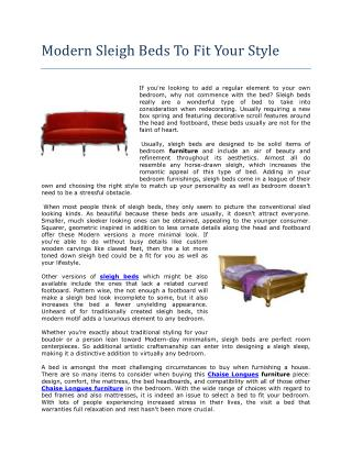 Modern Sleigh Beds To Fit Your Style