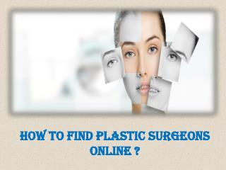 Find Plastic Surgeon Online | FindaDoc