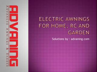Electric Awnings For Home, RC and Garden
