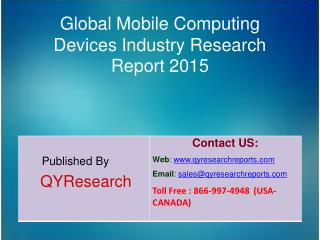 Global Mobile Computing Devices Industry 2015 Market Forecasts, Analysis, Applications, Research, Study, Overview and In