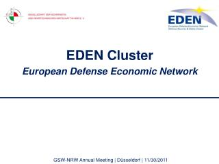 EDEN Cluster European Defense Economic Network