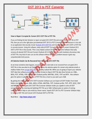 OST 2013 to PST converter