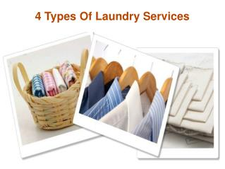 4 Types Of Laundry Services