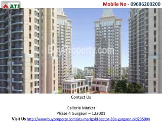 Ats Marigold Gurgaon – Call-09696200200 Sector 89A