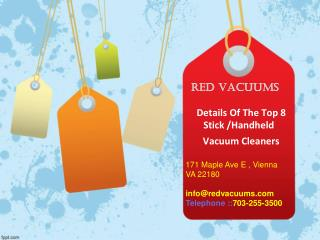 Details Of The Top 8 Stick And Handheld Vacuum Cleaners