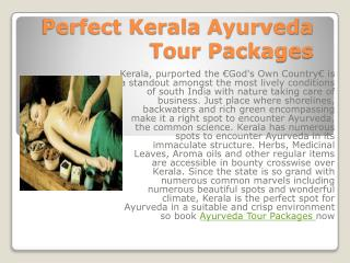 Perfect Kerala Ayurveda Tour Packages