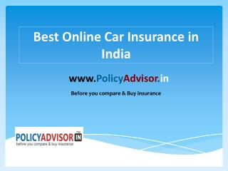 Car Insurance Online In India