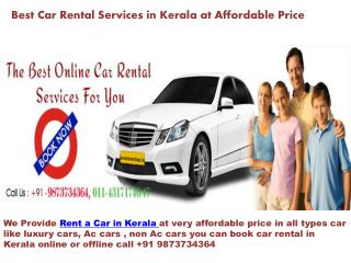 Best Car Rental Services in Kerala at Affordable Price