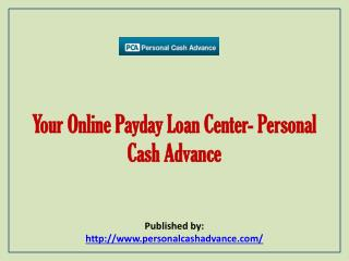 Your Online Payday Loan Cente