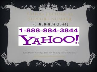 Yahoo tech support number 1-888-884-3844 Yahoo technical support