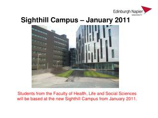 Sighthill Campus – January 2011
